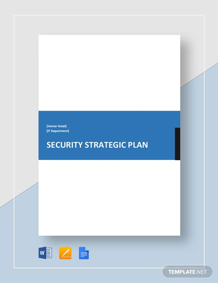 Security Strategic Plan Template