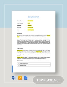 SEO Action Plan Template