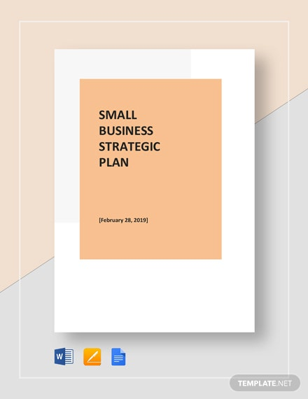Small Business Strategic Plan Template