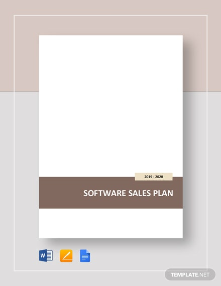 Software Sales Plan Template