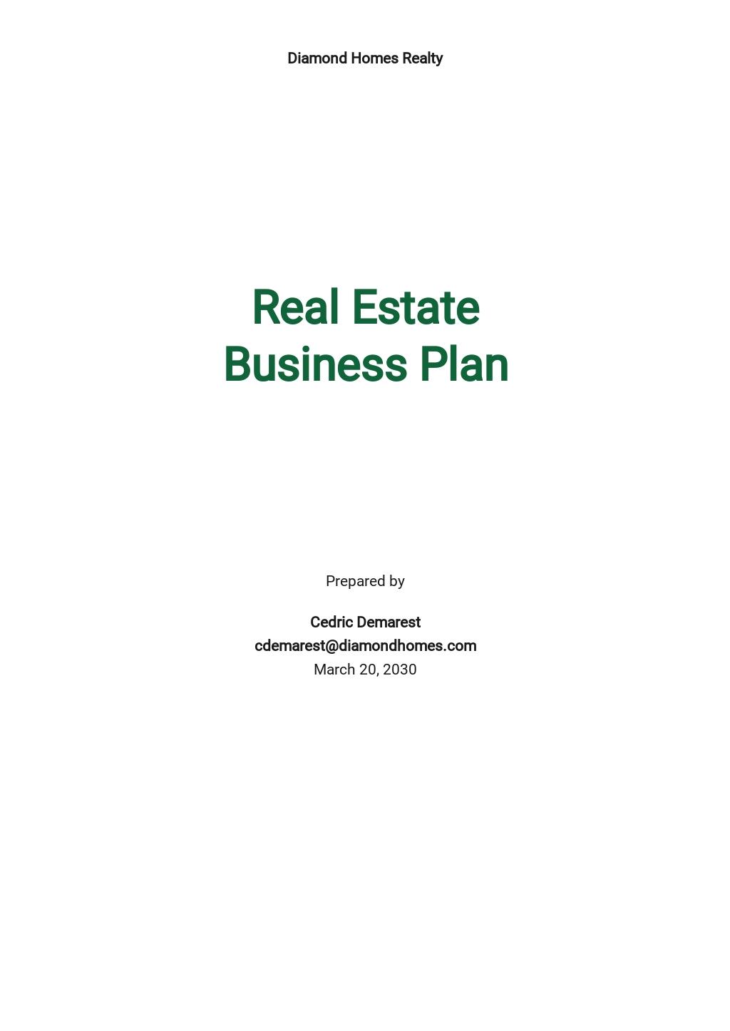 Start Up Real Estate Business Plan Template.jpe