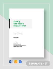 Start-Up Real Estate Business Plan Template