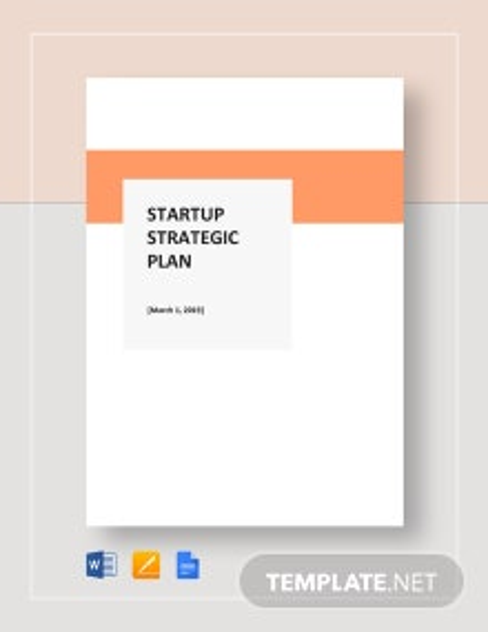 Startup Strategic Plan Template