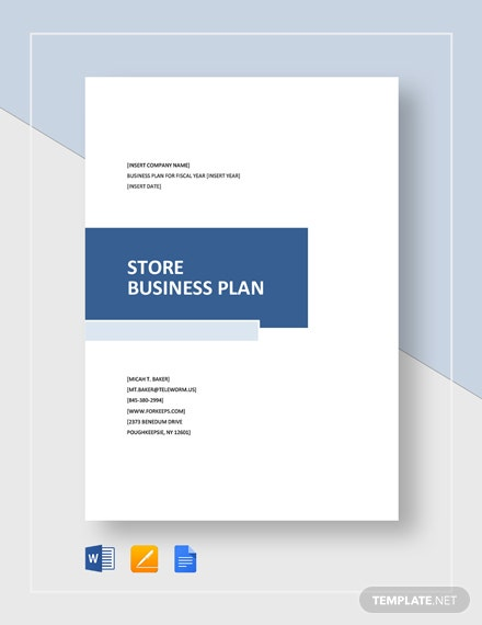 Store Business Plan Template