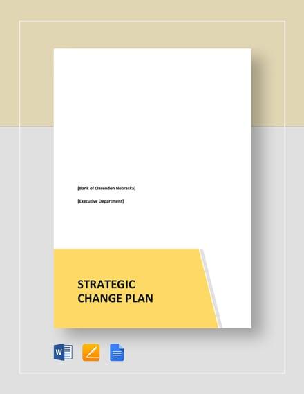 Strategic Change Plan Template