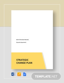 Strategic Change Plan Template