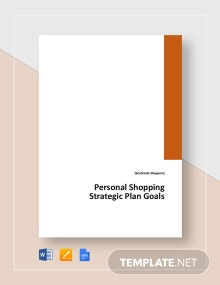 Strategic Plan Goals Template