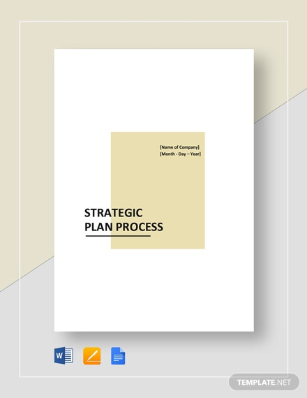 Strategic Plan Process Template