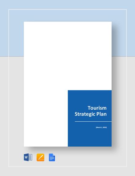 Tourism Strategic Plan Template