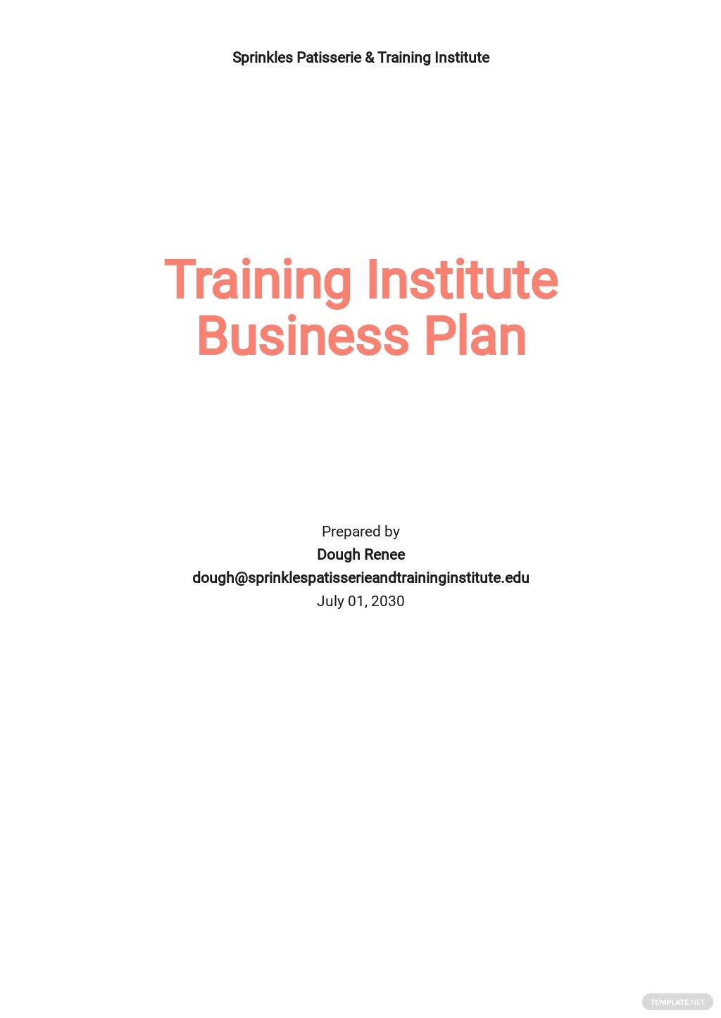 Training Institute or Provider Business Plan Template.jpe