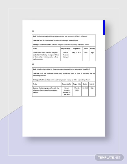Training Strategy Plan Download