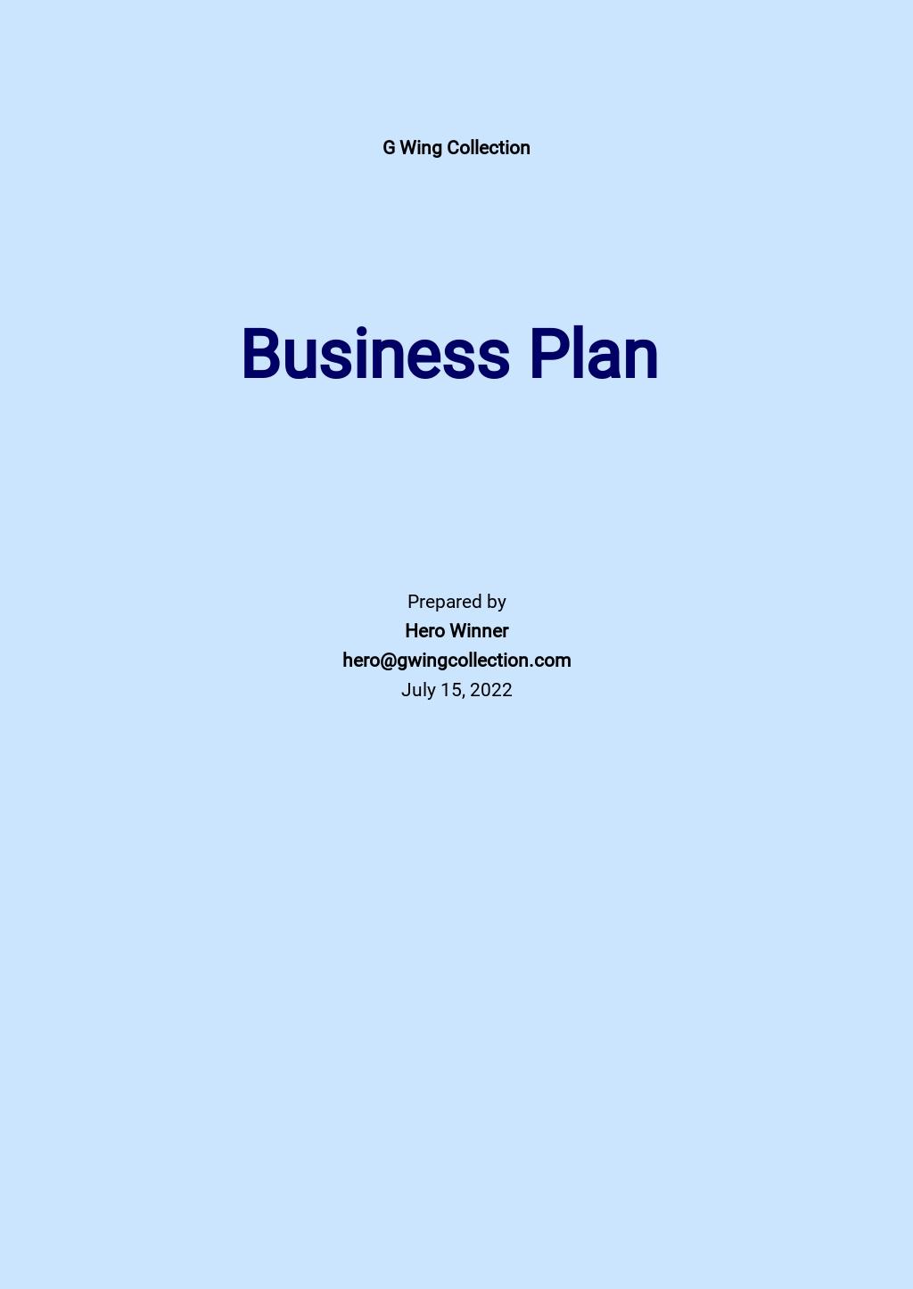 T-Shirt Company Business Plan Template