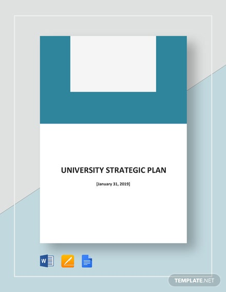 University Strategic Plan Template