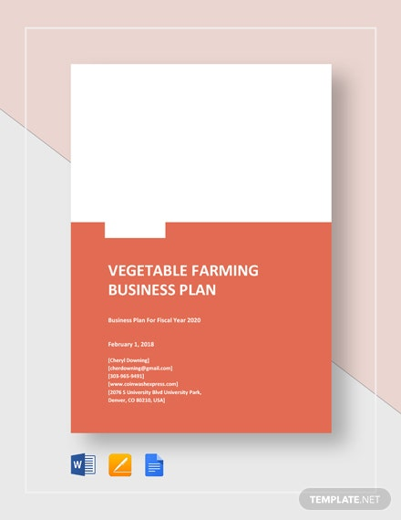 Vegetable Farming Business Plan Template