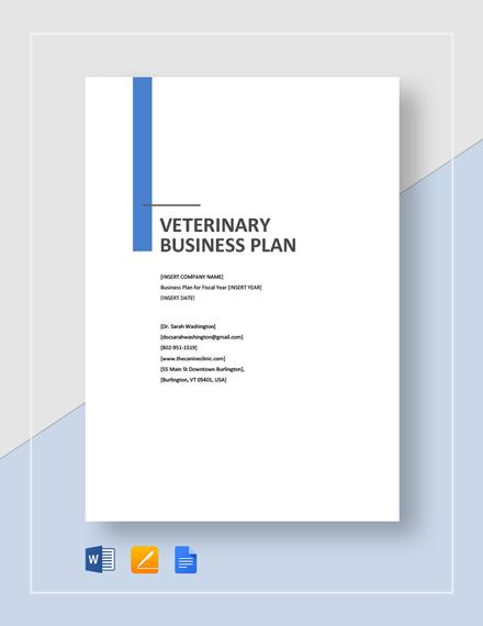 Veterinary Business Plan Template