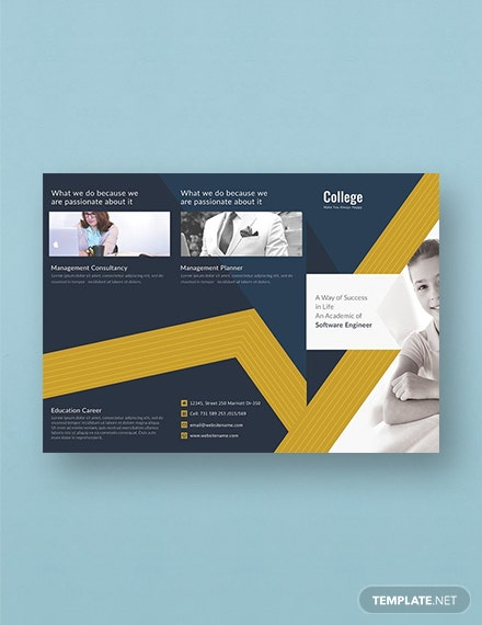 Free College TriFold Brochure Template