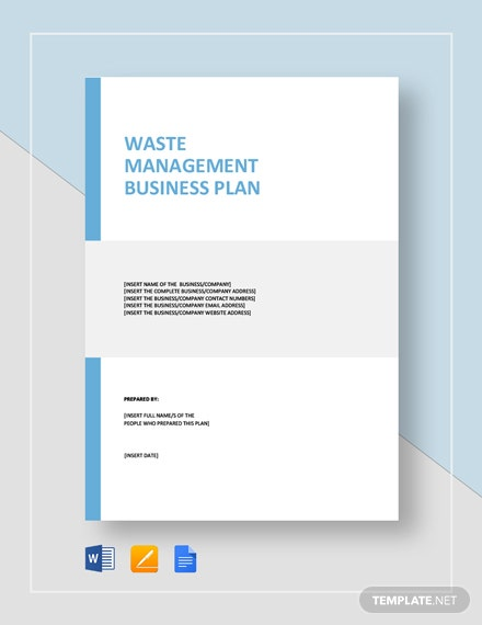 Waste Management Business Plan Template