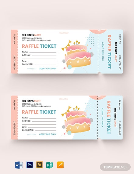 Birthday Raffle Ticket Template