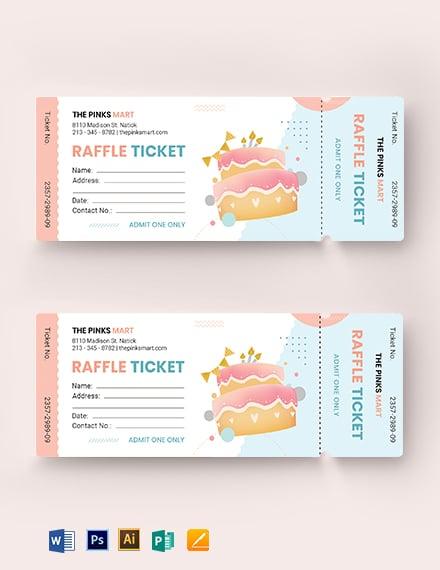Birthday Raffle Ticket Template