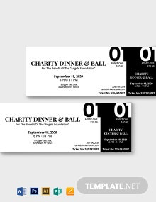 Blank Dinner Ticket Template