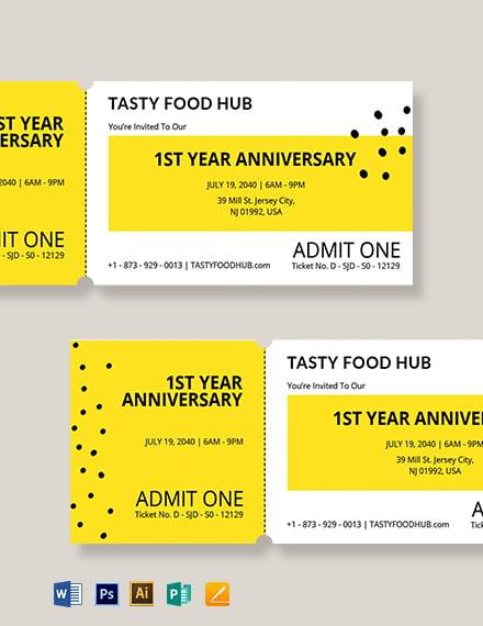 Blank Food Ticket Template