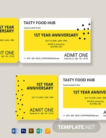 Blank Food Ticket Template