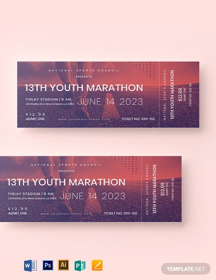 Marathon Ticket Template