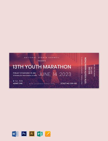 Marathon Ticket Template