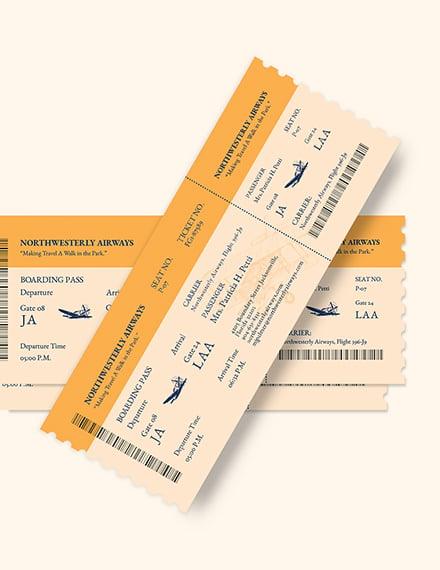 Vintage Airline Ticket Download