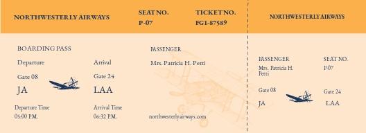 Vintage Airline Ticket Template