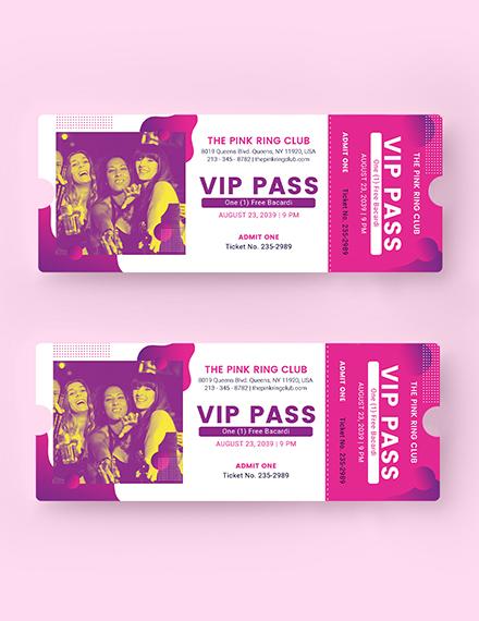 Sample VIP Invitation Ticket