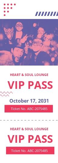 VIP Pass Ticket Template