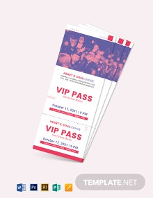 VIP Pass Ticket Template