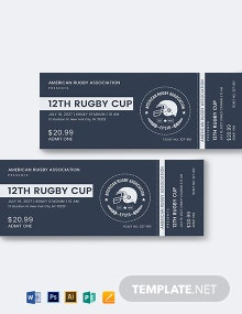 Rugby Ticket Template