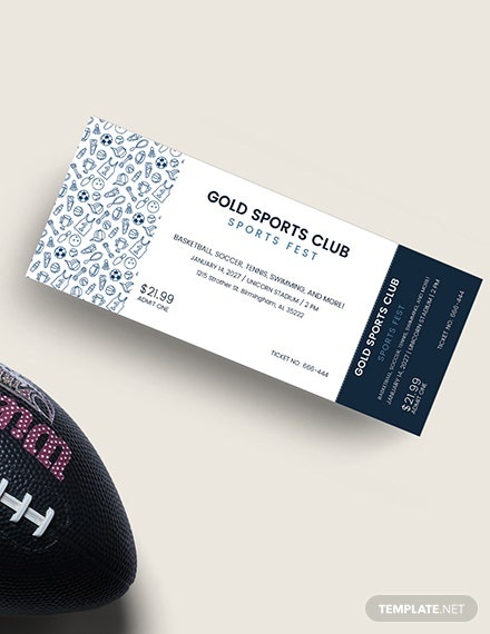 Sample Simple Sports Ticket