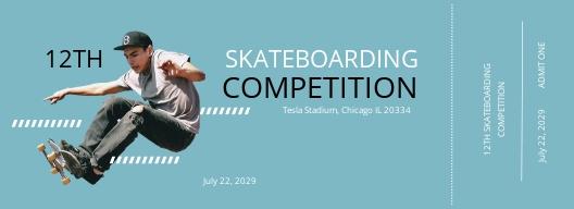 Skateboarding Ticket Template