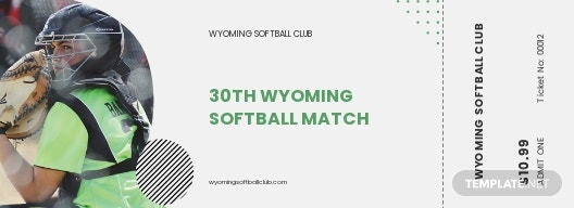 Softball Ticket Template