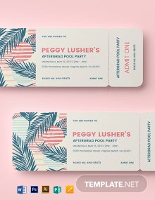 Special Party Event Ticket Template