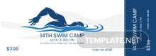 Swim Camp Ticket Template