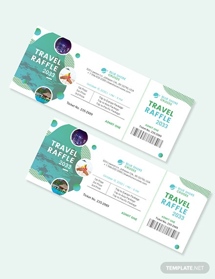 Sample Vacation Raffle Ticket