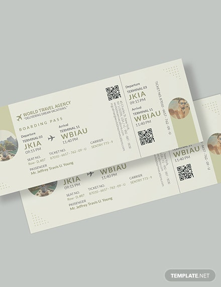 Vacation Travel Ticket Download