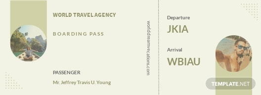 Vacation Travel Ticket Template