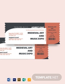 Admit One Event Ticket Template