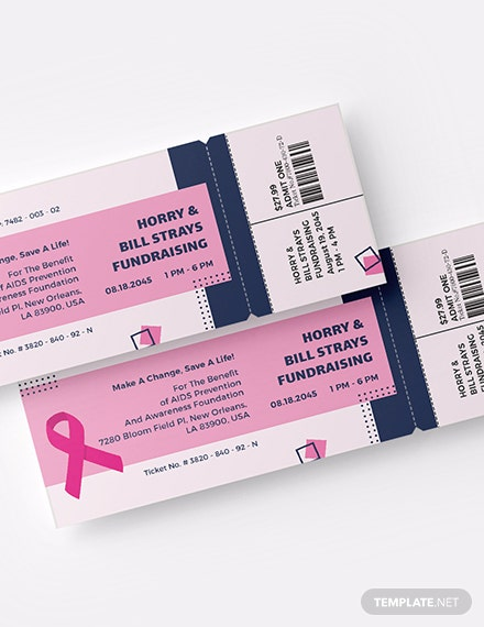 AIDS Fundraising Event Ticket Download