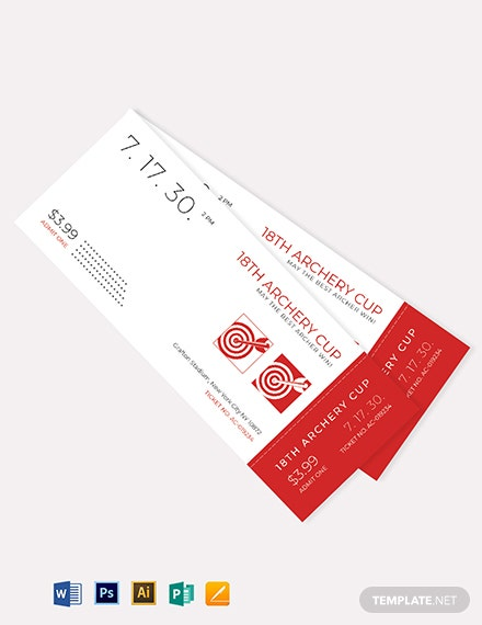 Archery Ticket Template