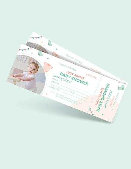 Baby Shower Raffle Ticket Download