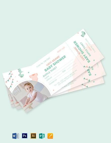 Baby Shower Raffle Ticket Template
