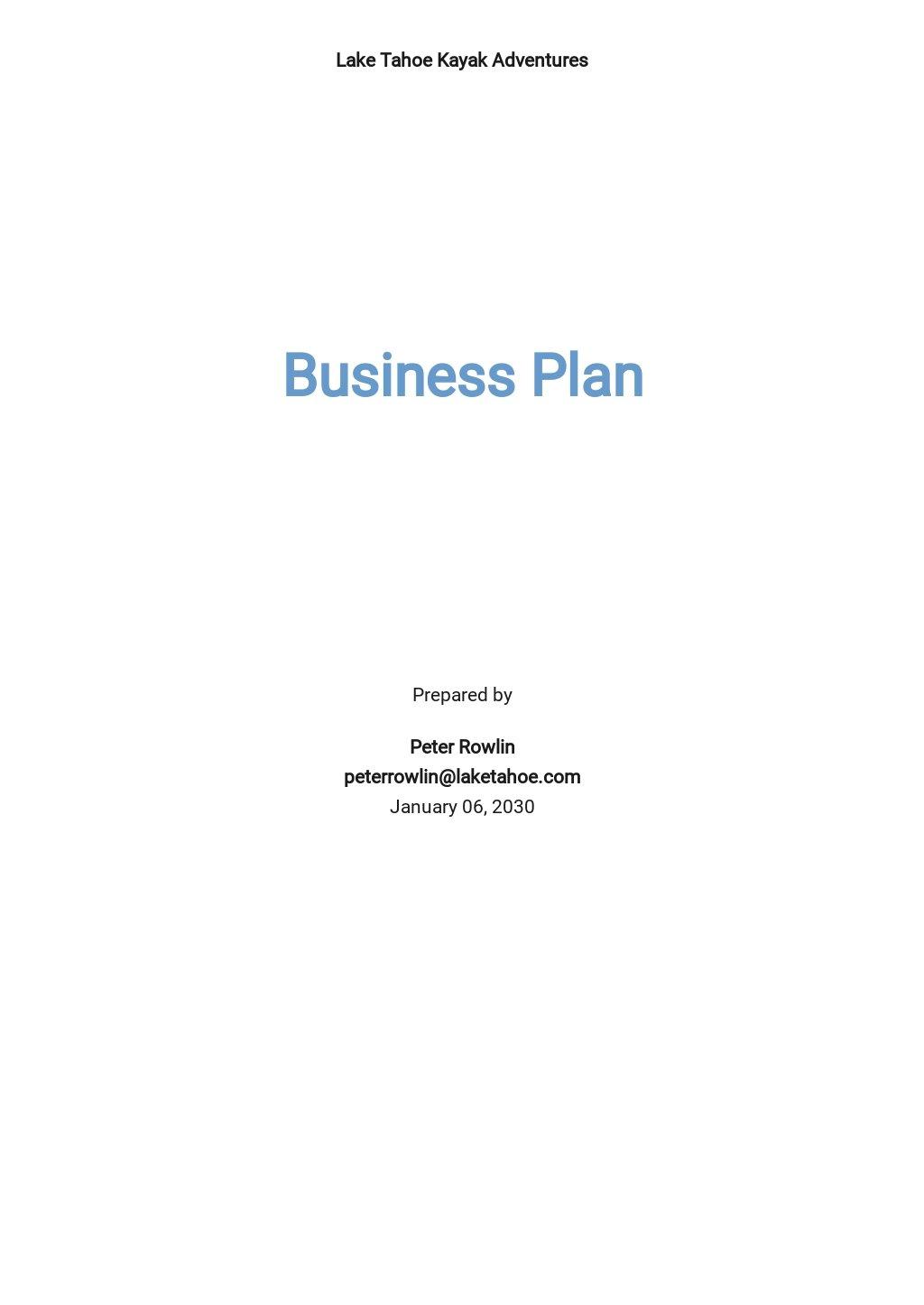 Water Sports Business Plan Template.jpe