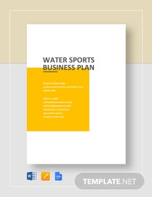Water Sports Business Plan Template