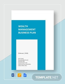 Wealth Management Business Plan Template